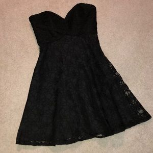 Mori Lee Black Lace Sweetheart Cocktail Dress NWT